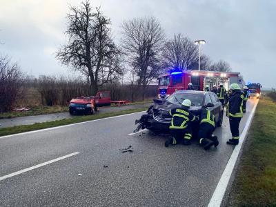Fotoalbum Verkehrsunfall  L17 - Obstplantage