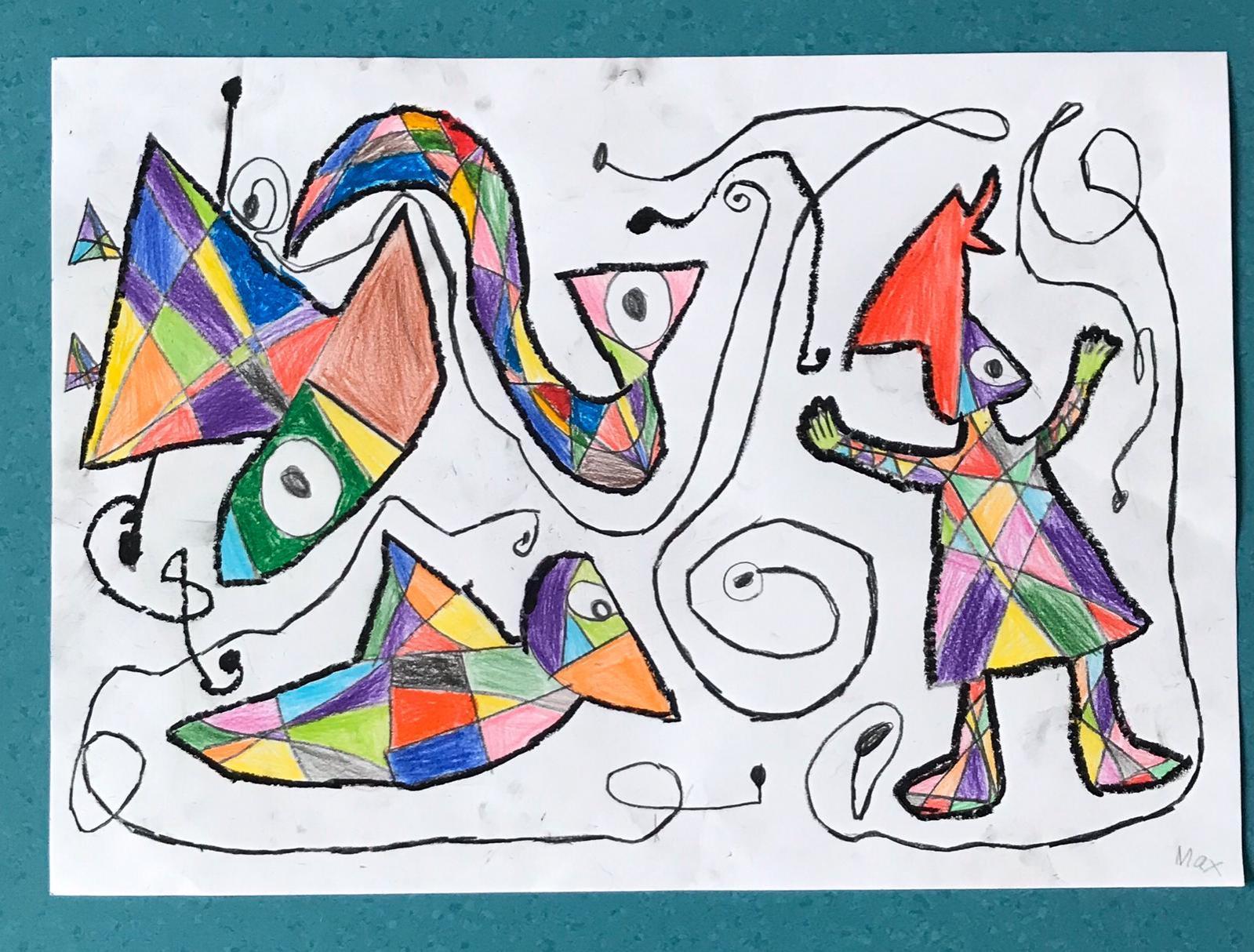 grundschule hohnsen  zeichnen nach miro klasse 2a