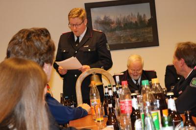 Fotoalbum Jahreshauptversammlung der Freiwilligen Feuerwehr Langeln.
