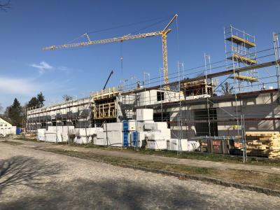 Fotoalbum Bau des neuen Hort- und Kitagebäudes in der Holbeinstraße schreitet voran