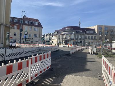 Fotoalbum Bilder vom Bau des Kreisverkehres Bahnhofstraße/Poststraße