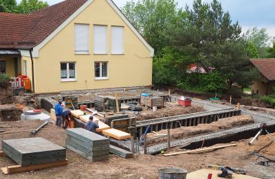Fotoalbum Baubeginn in der Kindertagesstätte Weinberg