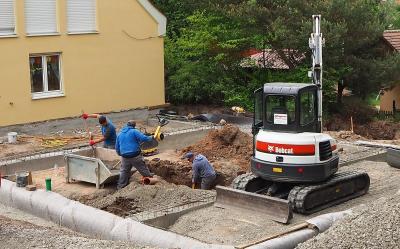 Fotoalbum Baufortschritt der Kindertagesstätte in Weinberg