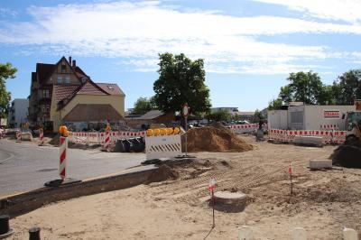 Fotoalbum Aktuelle Bilder vom Bau des Kreisverkehres Bahnhofstraße/Poststraße