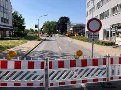 Fotoalbum Bilder vom Baustart des Kreisverkehrneubaus Dallgower Straße/Schwartzkopffstraße