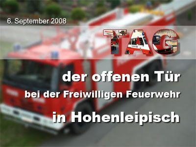 Fotoalbum Tag der offenen Tür bei der FFw Hohenleipisch & stellen der Erntekrone