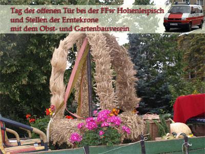 """Fotoalbum Freiwillige Feuerwehr Hohenleipisch """" Tag der offenen Tür """""""