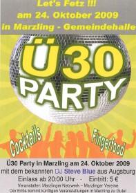 Fotoalbum Ü-30 Party 2009