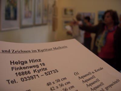 Foto des Albums: Vernissage Ausstellung Helga Hinz (21.05.2010)