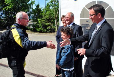 Fotoalbum Ministerpräsident M. Platzeck in der Region