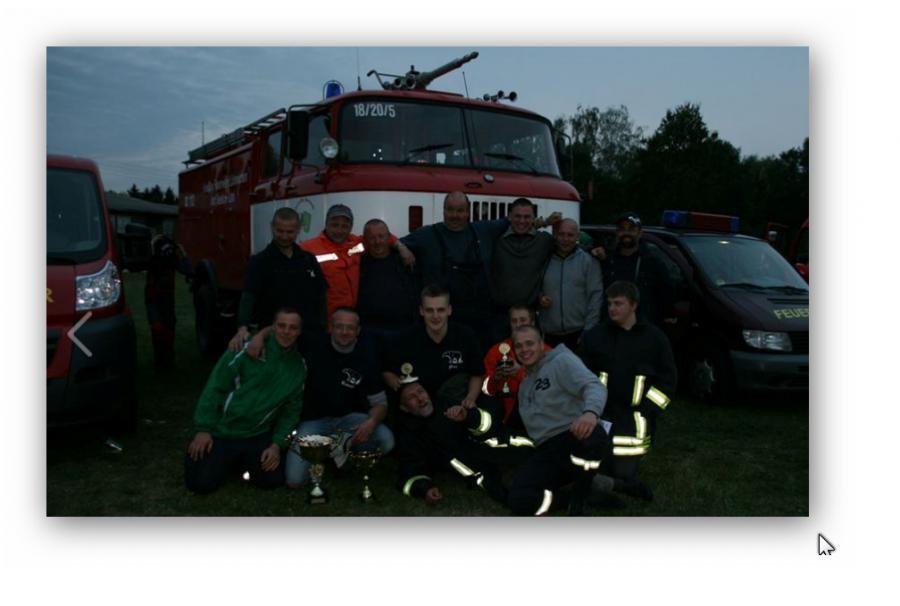 Gruppenfoto Wettkampfteam FF Libben.mit Pokalen