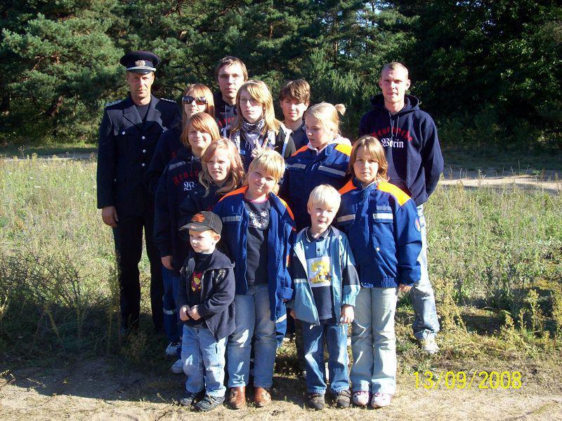 Team JFW Worin Besuch der LSTE Eisenhüttenstadt 2008
