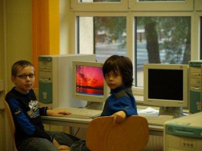Fotoalbum 3b Unsere erste Computerstunde