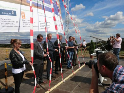 Fotoalbum Eröffnung des Solarparks Jännersdorf