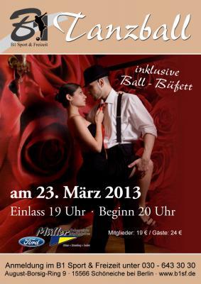Fotoalbum Tanzball 2013 mit der B1 Tanzschule