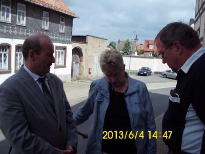 Fotoalbum Kreisbereisung der Landrätin des Kyffhäuserkreises in der Stadt Großenehrich am 04.06.2013