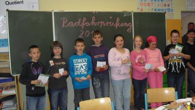 Fotoalbum Radfahrprüfung Klasse 4