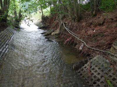 Fotoalbum Schäden am Flußbett