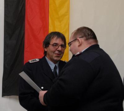 Fotoalbum Ehrenabzeichen der Landesjugendfeuerwehr Brandenburg für Wilfried Schulze