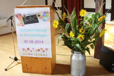 Fotoalbum Schuleinführung in der Dalton-Gemeinschaftsschule Kirchheilingen
