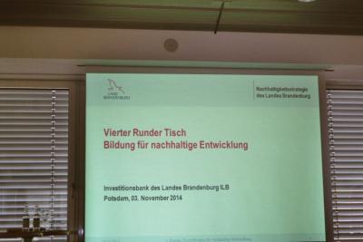 Fotoalbum 4. Runder Tisch Bildung für nachhaltige Entwicklung (BNE): Brücken in die Zukunft Brandenburgs bauen