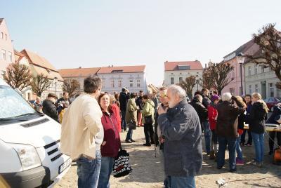 Fotoalbum Beobachtung der partiellen Sonnenfinsternis auf dem Töpfermarkt