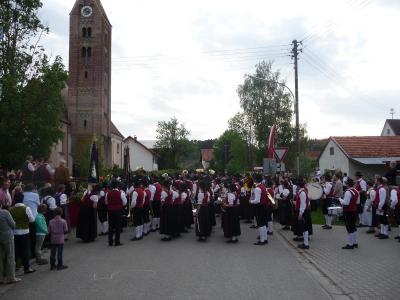 Foto des Albums: Sternmarsch beim Bezirksmusikfest 2015 in Weicht (14.05.2015)