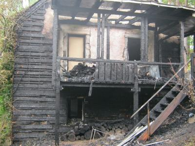 Fotoalbum Brand Wohnhaus in Oberwoltersgrün