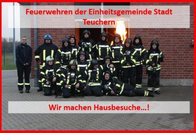 Fotoalbum Feuerwehr Teuchern im Brandübungshaus
