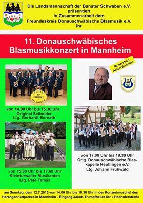 Fotoalbum 11. Donauschwäbisches Blasmusikkonzert in Mannheim