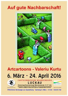 Plakat zur Ausstellung - Motiv Valeriu Kurtu
