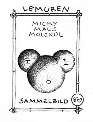 Lemuren-Sammelbild - Cartoon von Kriki