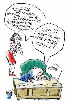 Karikatur von Barbara Henniger - alle Recht vorbehalten