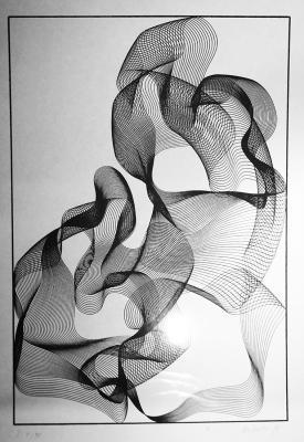 Joseph W. Huber - Op Art Experimente 1970er Jahre