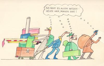 Frank Leuchte - Karikatur 1970er Jahre