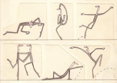 Frank Leuchte - Vorlage zu einer Doppelseite zum Thema Ballett