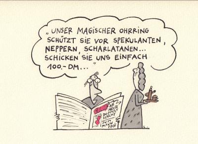 Frank Leuchte - Karikatur 1991-92 Jahre (Sammlung Museen für Humor und Satire)
