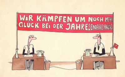 Frank Leuchte - Karikatur 1970er Jahre (Sammlung Museen für Humor und Satire)