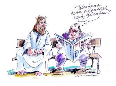 Glaube - Karikaturen zum Reformationsjubiläum - Cartoon von Reiner Schwalme