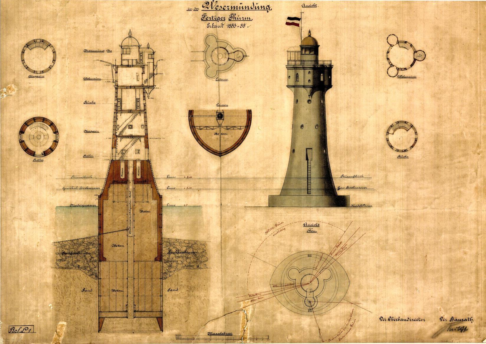 Foto der Galerie: Bau des Leuchtturms Roter Sand _1