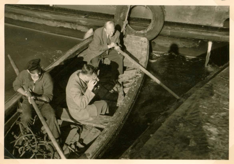 Foto der Galerie: Umbauarbeiten am Leuchtturm Roter Sand 1955