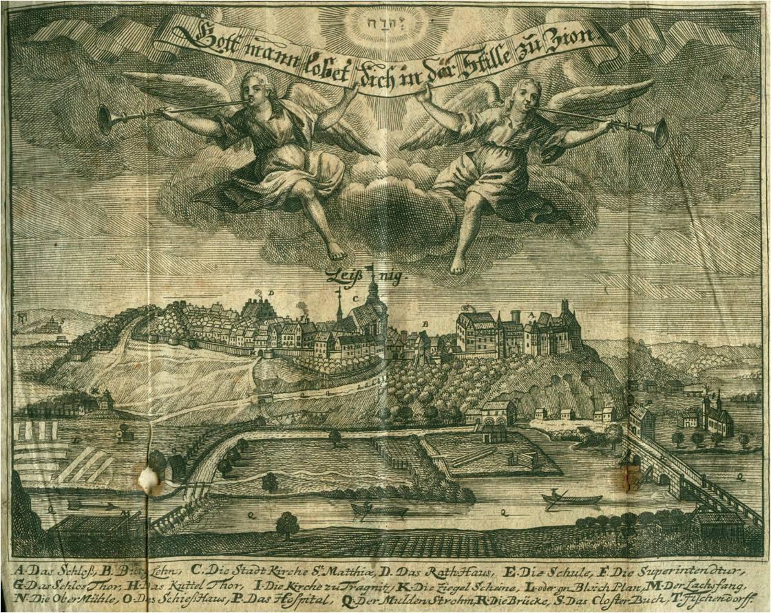 Foto der Galerie: Leisniger Stadtansicht 1722