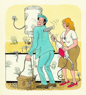 Karikatur von Harri Parschau