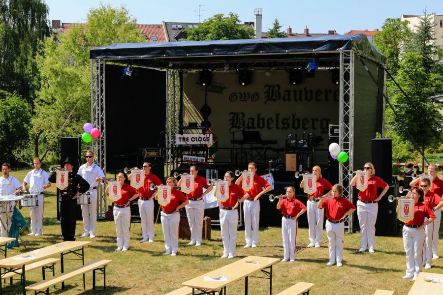 Foto der Galerie: 4.07.2014 - Fanfarenzug Potsdam - 110 Jahre GWG Bauverein Babelsberg