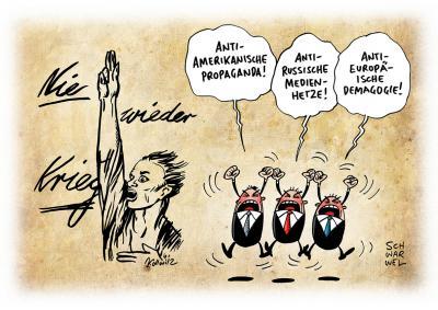 Karikatur von Schwarwel