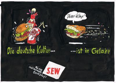 Klaus Stuttmann Plakatentwurf 1986.