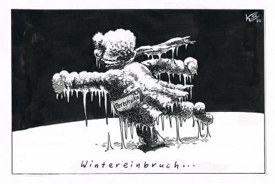 Klaus Stuttmann Wintereinbruch 1990