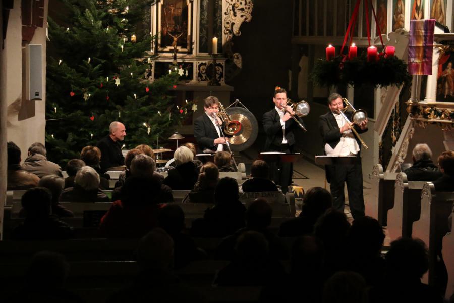 """Foto der Galerie: Konzert mit """"percussion posaune leipzig"""" am 21.12.2014"""