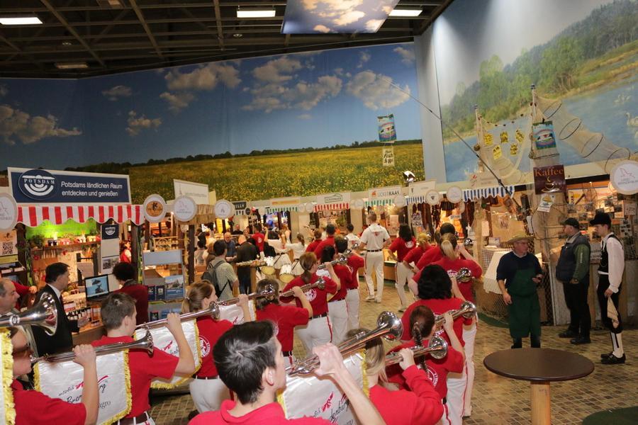 Foto der Galerie: Fanfarenzug Potsdam - Auftritt Internationale Grüne Woche
