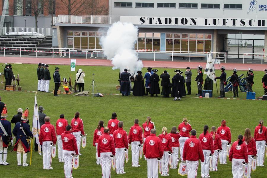 Foto der Galerie: Fanfarenzug Potsdam - Auftritt zum 26. Schützentag
